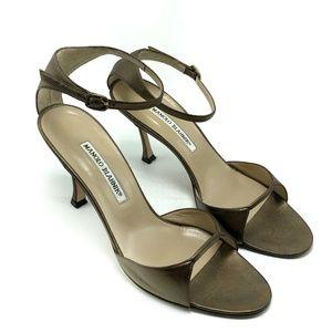 Manolo Blahnik Sandal Heeled Ankle Size 8.5